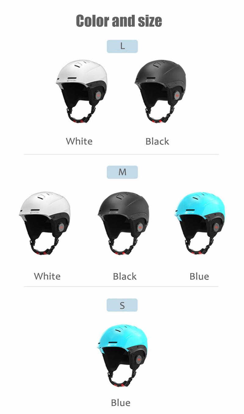 XIAOMI Smart4u SS1 Wireless bluetooth Skiing Cycling Helmet Women Men IPX4 Waterproof Sports Helmet