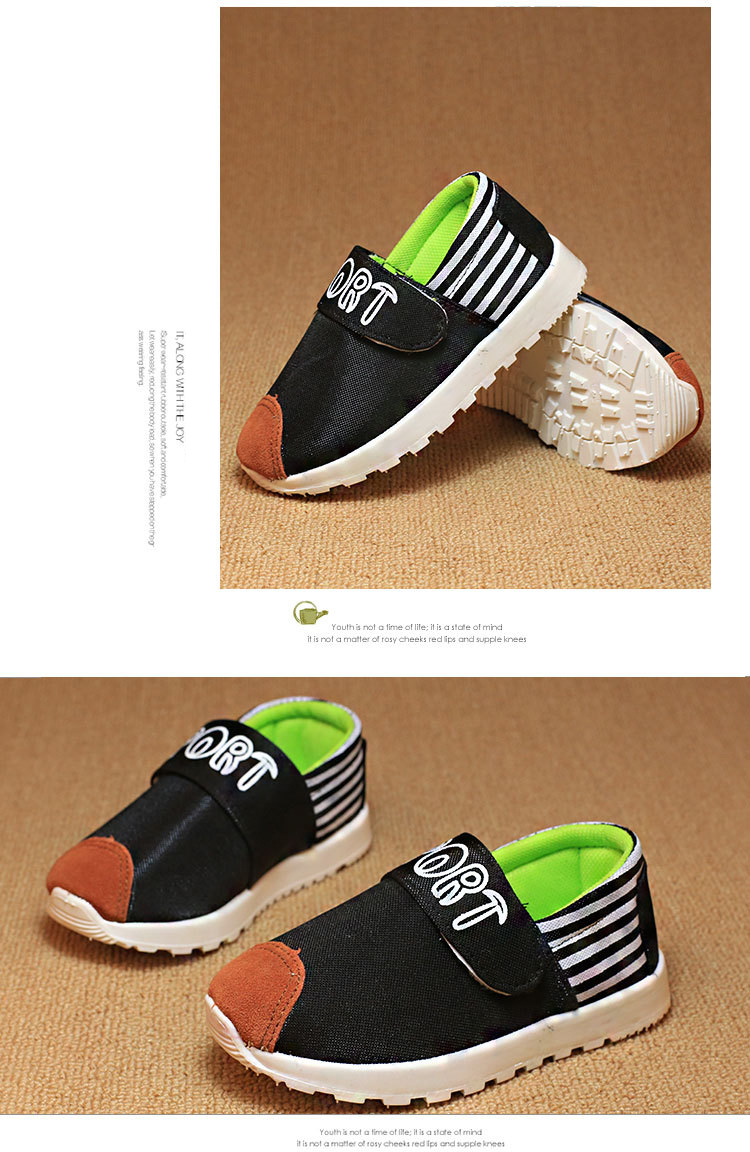 Children Kids Slip-On Casual Shoes Sole Soft Flats Grils Boys Loafers Athletic Footwear