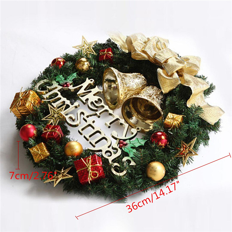 Christmas Holiday Wreath Door Ornament Garland Decoration Christmas Bell