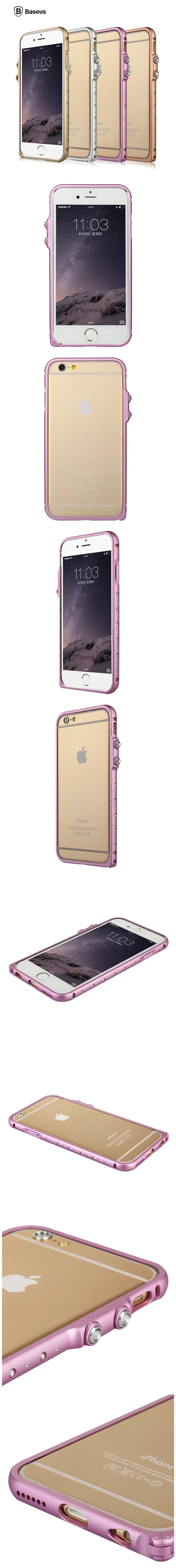 BASEUS Bling Metal Bumper For iPhone 6 6s 6 Plus & 6s Plus