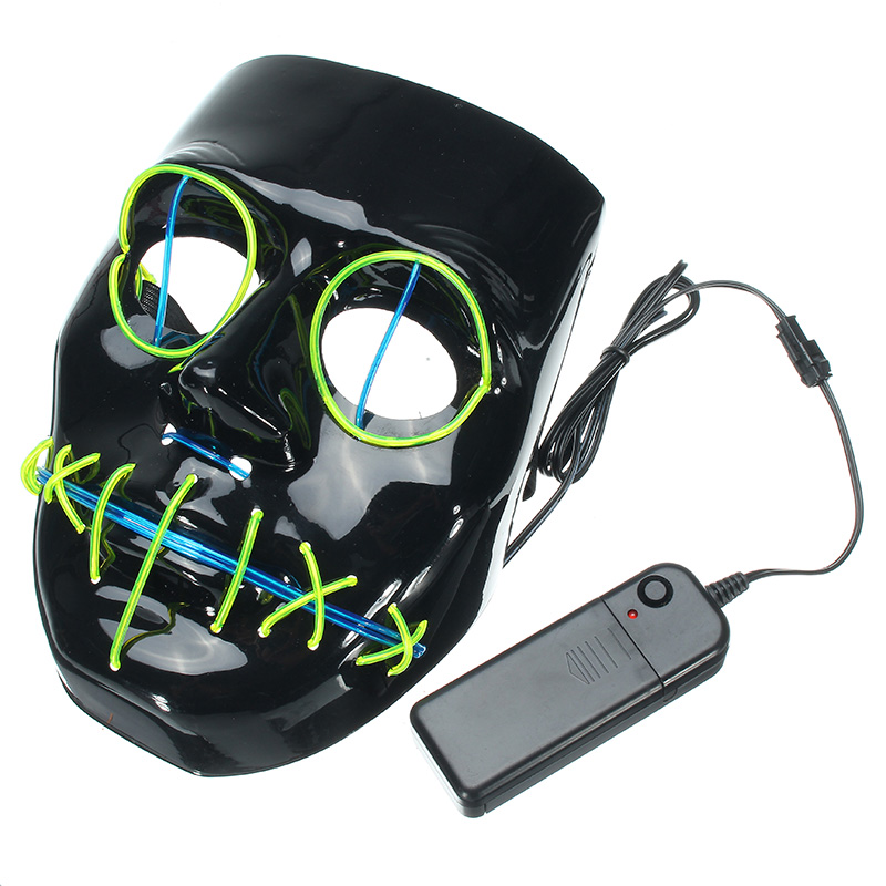 Halloween Mask Flash El Wire Led Glowing Beauty Christmas Party Mask Hot Sale