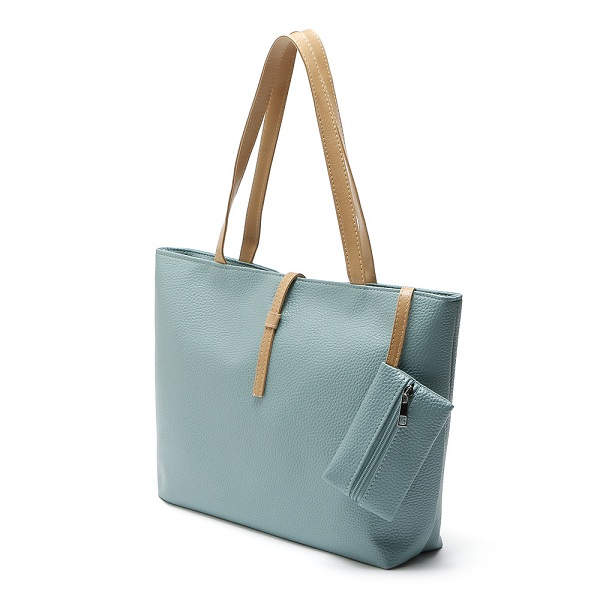 Women PU Leather Fashion Tote Casual Large Capacity Handbag