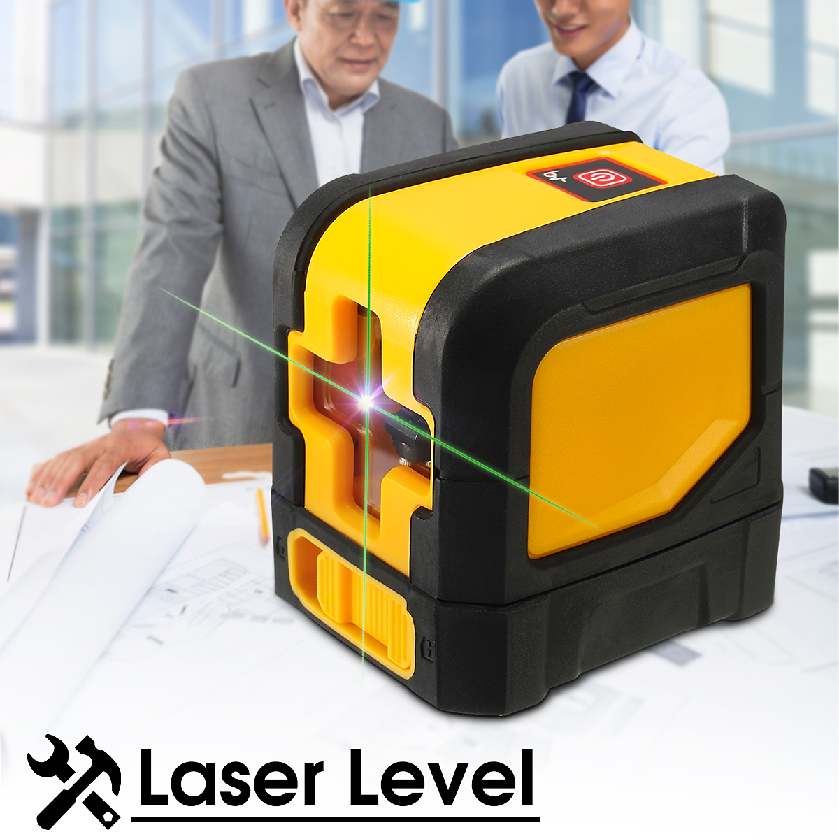 360° Self-Leveling Cross Laser Level Plumb Green 2 Line 1 Point With Mount 30m