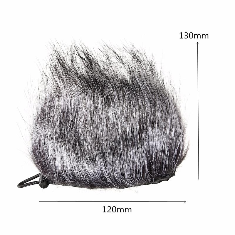 Artificial Fur Wind Microphone Cover Muff Windscreen Sleeve Shield For Zoom H1 H2N H4N Q3 For Sony D50 Recorder
