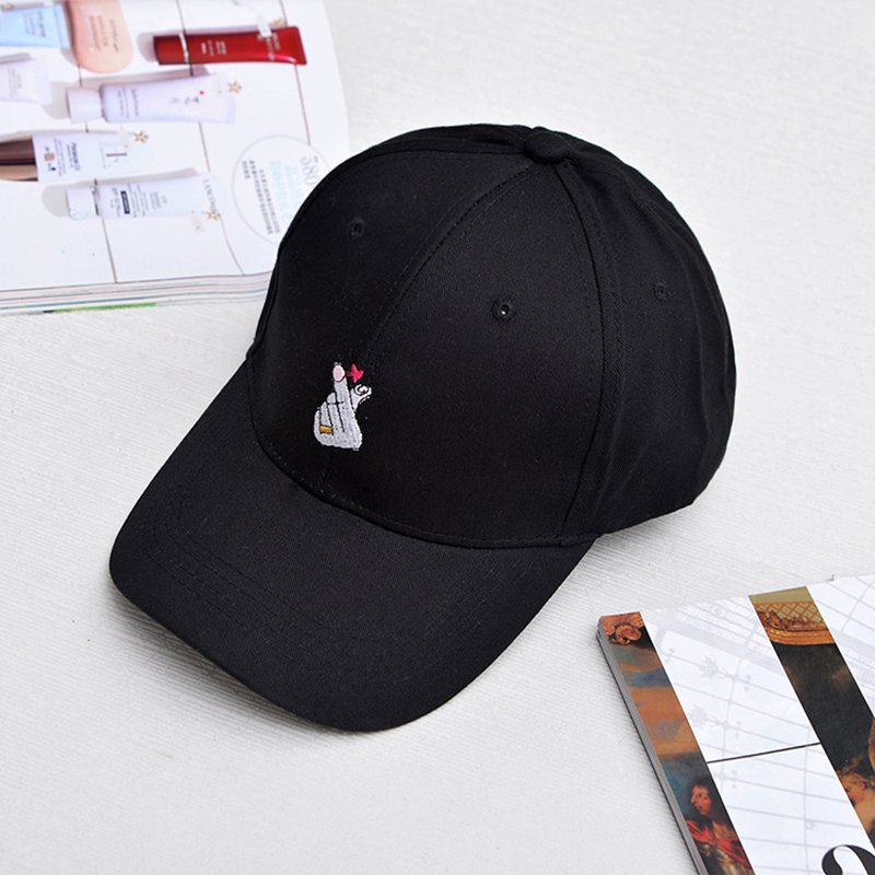 Men Women Hand Embroidery Dad Baseball Cap Adjustable Strap Back Trucker Hats
