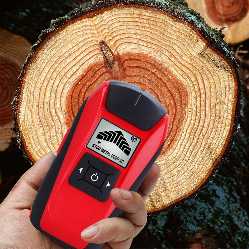 G120 Multifunctional Handheld LCD Wall Metal Detector Stud Finder Wood Studs AC Cable Live Wire Scanner Tester