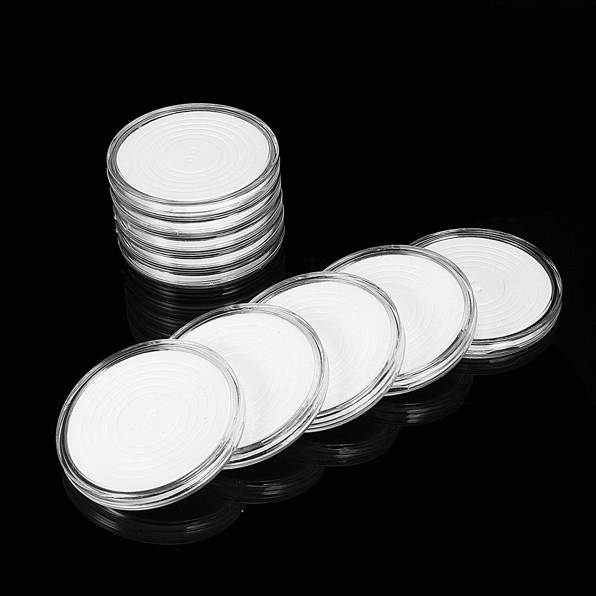 Small Round Box One Clear Ten Commemorative Coin Coin Collection Box Coin Holder