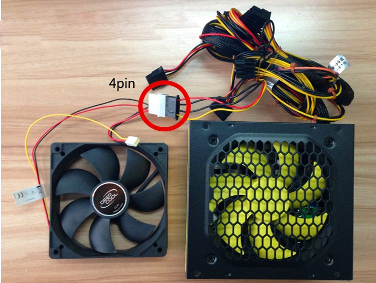 Deepcool XFAN 12cm 4Pin 3Pin CPU Heat Sink Hydro Cooling Fan for PC Desktop 12V