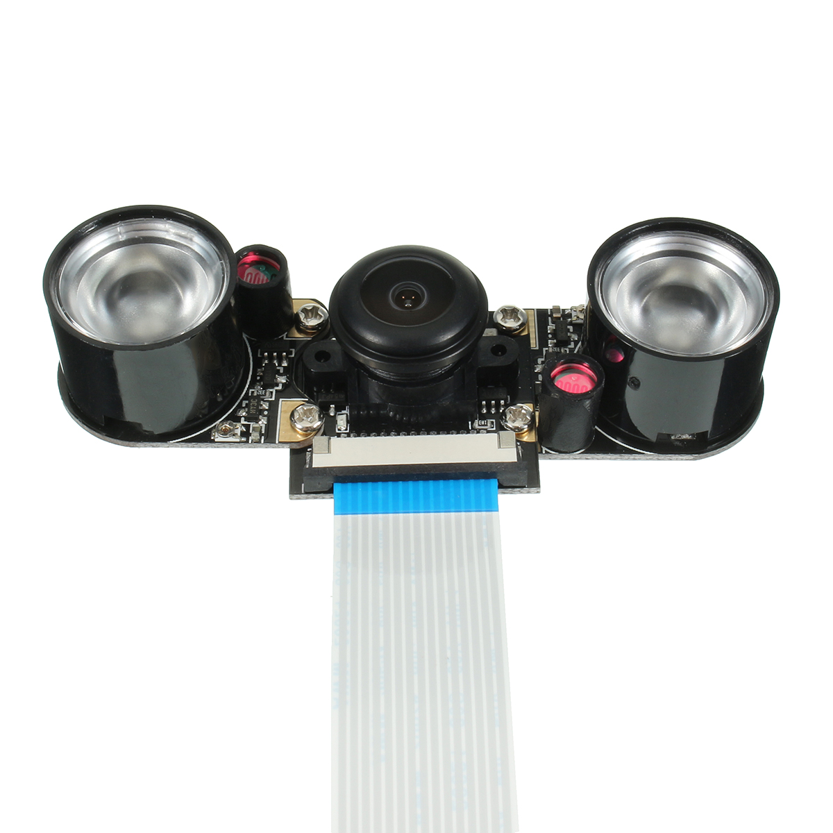 5 MP Wide Angle Fisheye Lens Night Vision Camera + 2PCS IR Sensor LED Light For Raspberry Pi 2/3/Model B