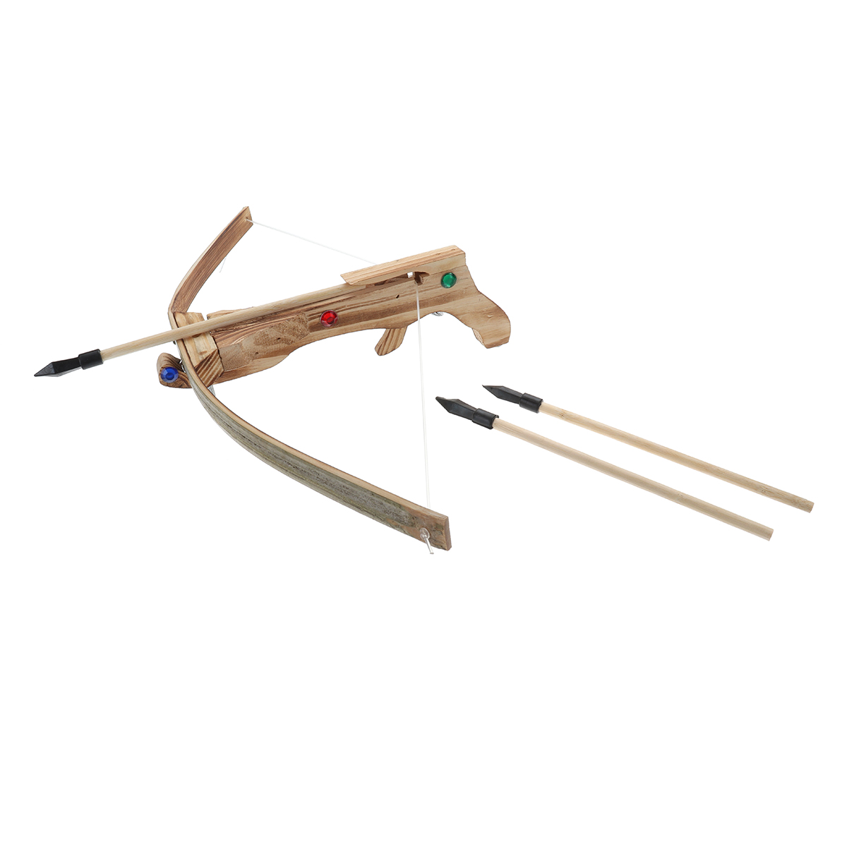 Wooden Archery Cross Bow Kid Hunting Toy Bow Outdoor Shooting Toys With 3 Arrow+Quiver