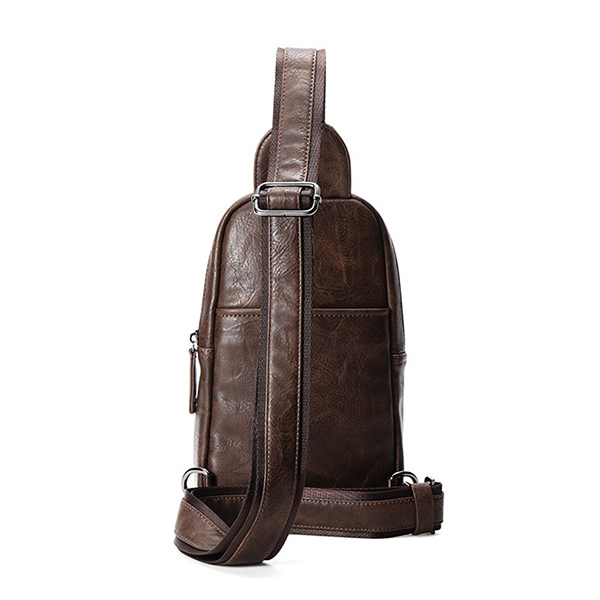 Men Minimalist Retro Causal Multi-functional Chest Bag Sling Bag Crossbody Bag