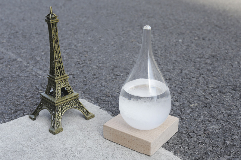 Weather Forecast Water Drop Shaped Bottle With Base Stand Christmas Gift Decor Prediction Ball