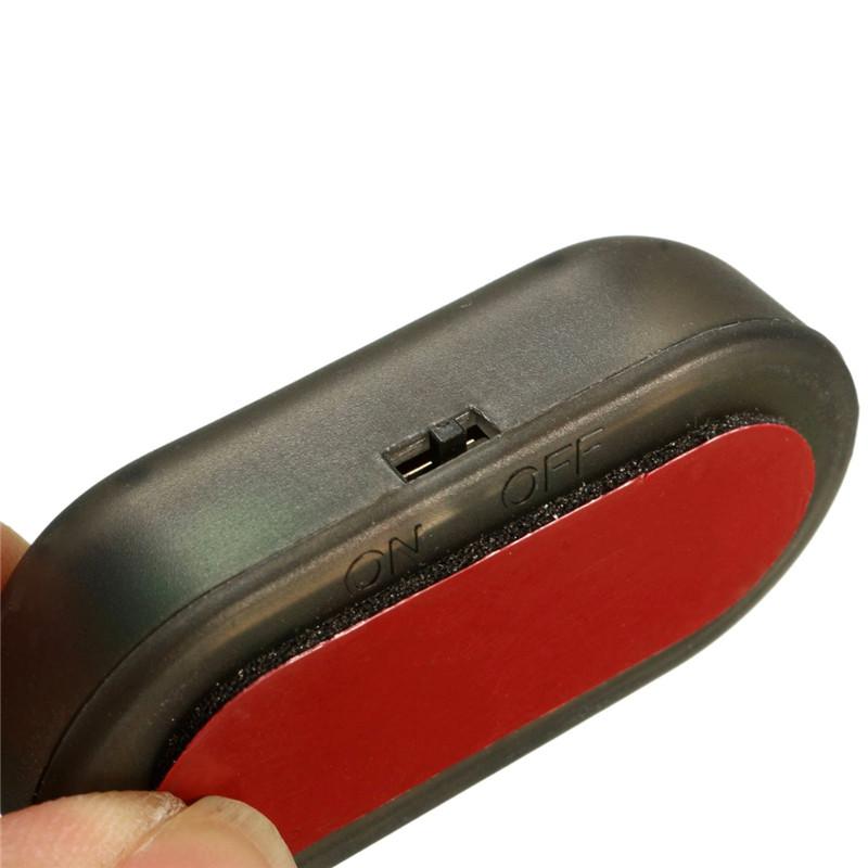 Car Solar Power 1.2V Red LED Alarm Anti Theft Warning Light Intelligent Light-sensitive Strobe Lamp