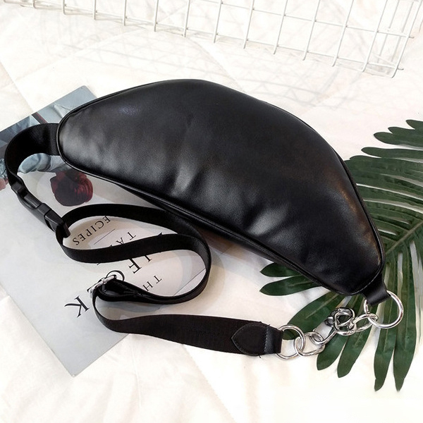 Faux Leather Casual Sport Hip Pouch