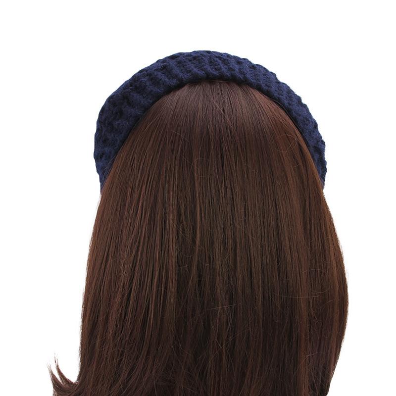 Women Hand Crocheted Warm Headband Ponytail Knit Hat