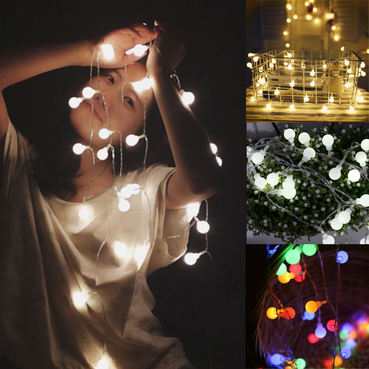 Battery Powered 3M 5M Round Shaped Fairy String Light for Patio Christmas Wedding DC4.5V