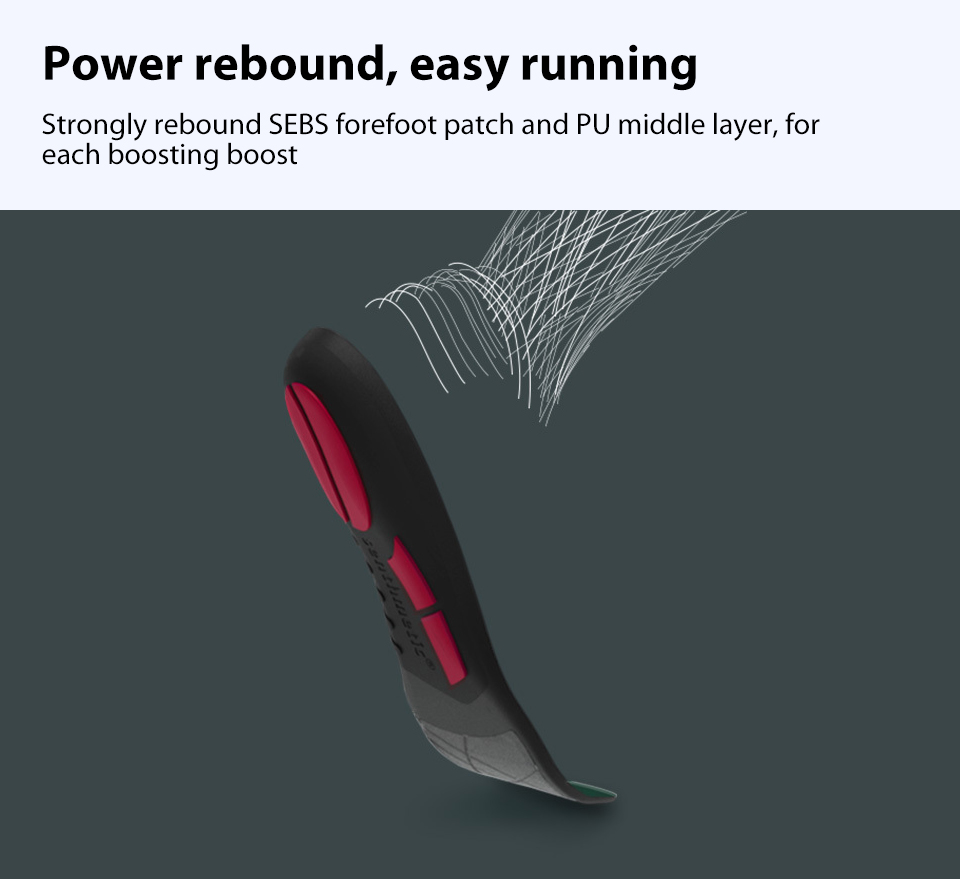 XIAOMI Shock Relief Sports Shoe Insole Running Insert