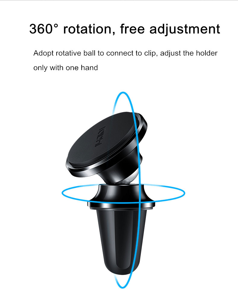 Original Xiaomi ROIDMi Z1 Car Air Vent Magnetic Stand Mount Holder For Smartphone