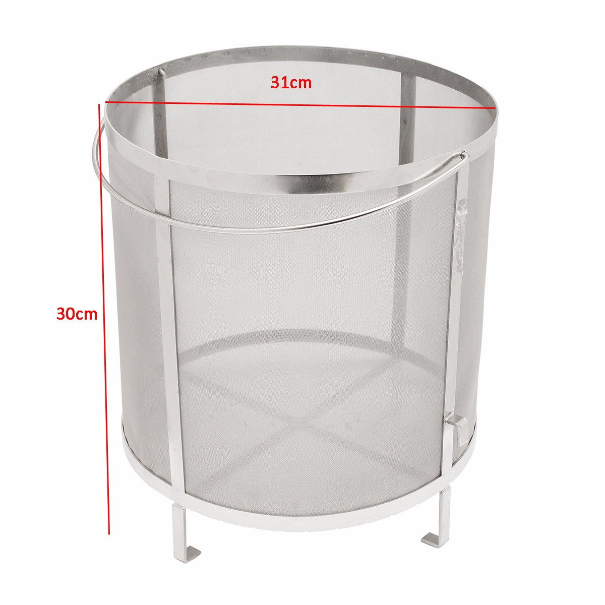 310x300mm Brewing Grain Drain Basket Hop Spider Kettle 300 Mesh