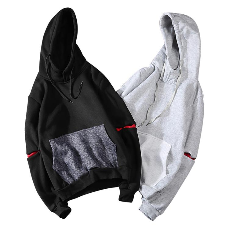 Men's Casual Splice Color Crewneck Hoodies