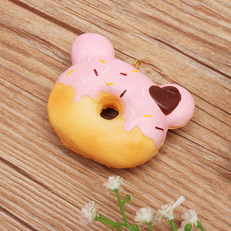 Yummiibear Mini Donut Squishy 4.5cm Licensed Slow Rising With Packaging Collection Gift Soft Toy