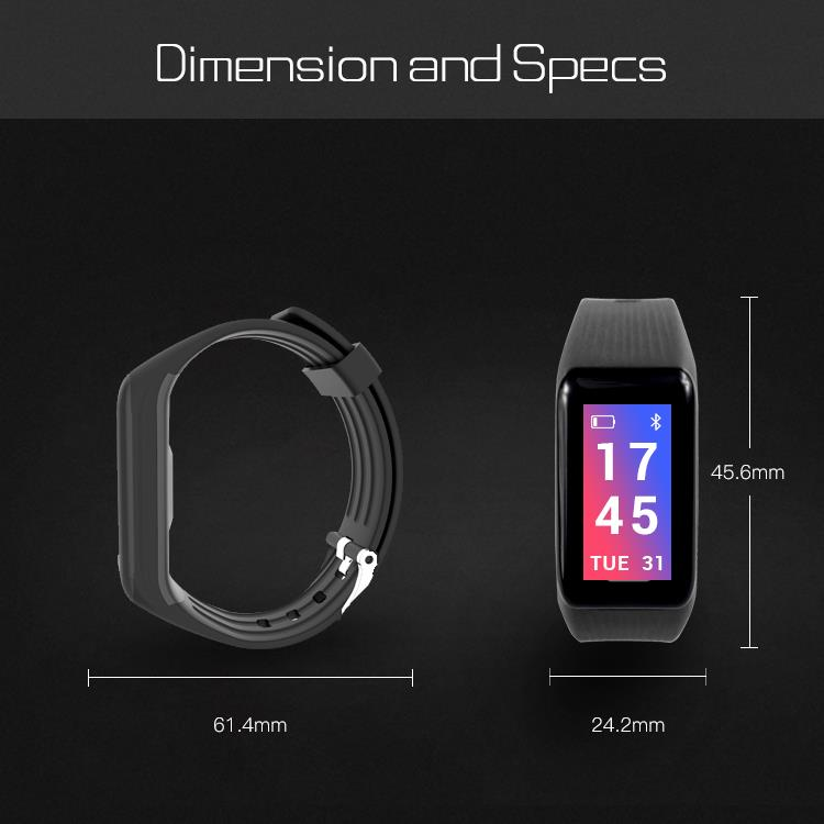 Bakeey X1 Plus PPG Blood Pressure Heart Rate Monitor Fitness Tracker Sport bluetooth Smart Wristband