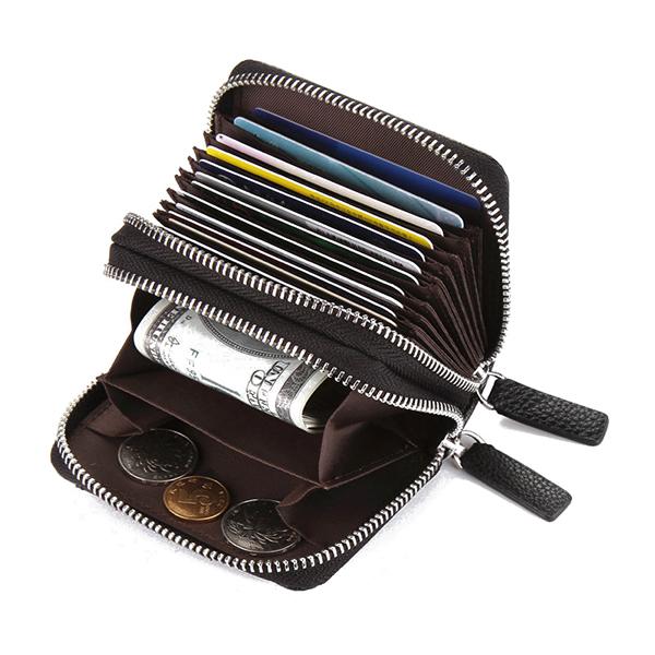 RFID Blocking Zip Around Wallet Card Holder