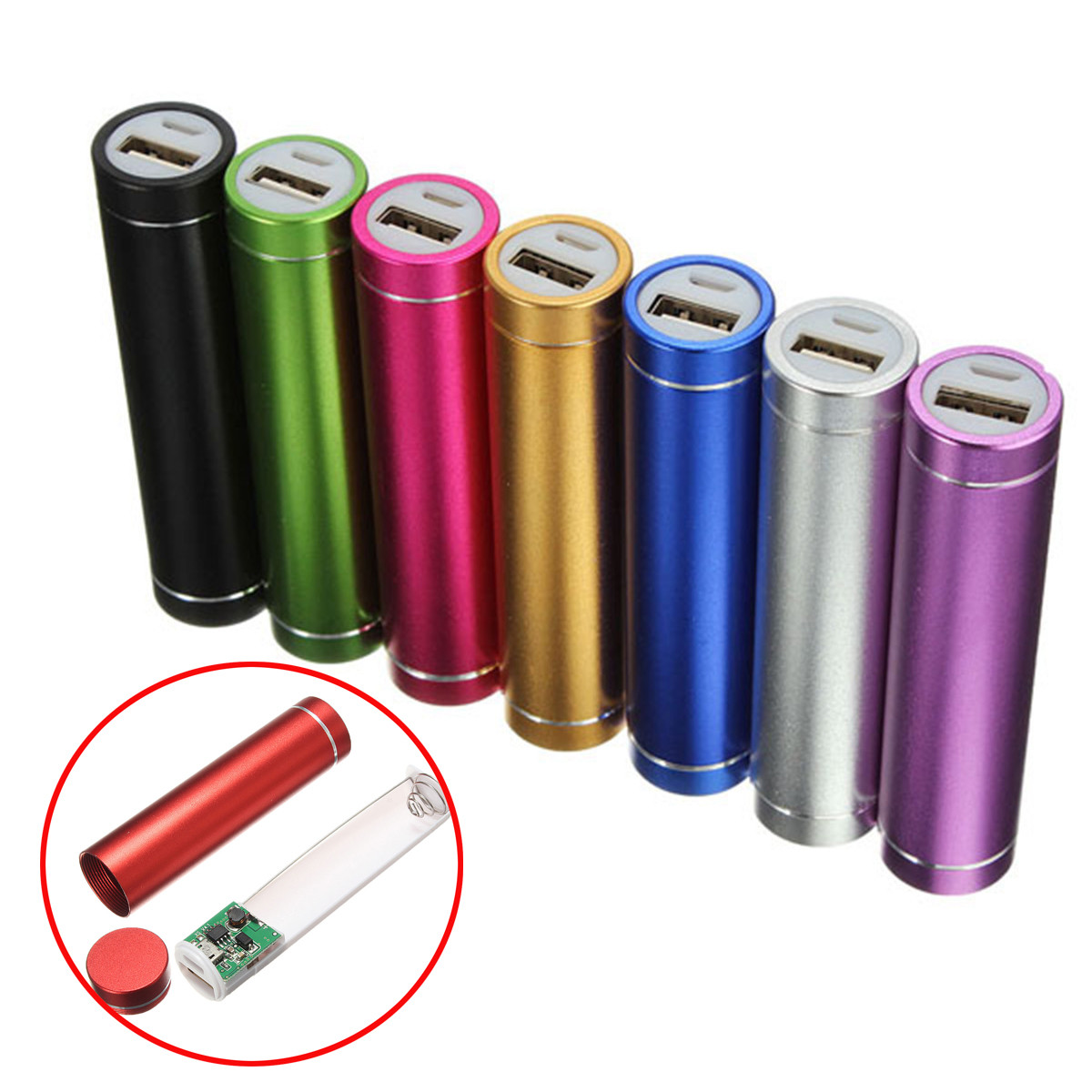 Portable USB Power Bank Case Kit 18650 Battery Charger DIY Box for iPhone 8 X Plus S8 S9 Note 8