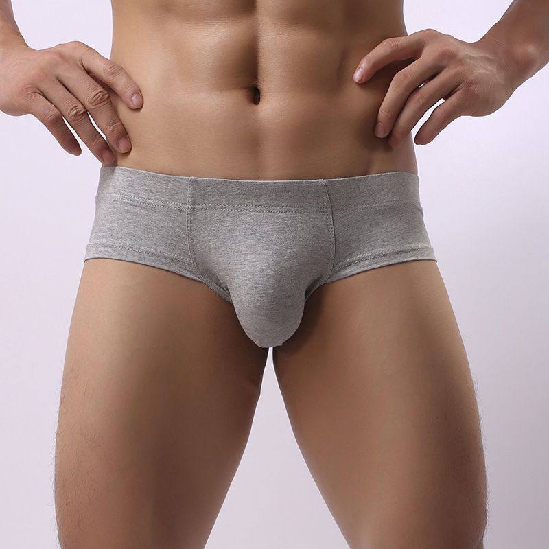 Sexy Cotton Breathable Low Waist U Convex Pouch Briefs for M