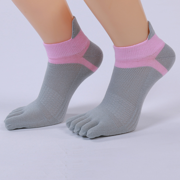 Women Five Toes Breathable Sports Yoga Sock Cotton Exercise Cycling Ankle Socks