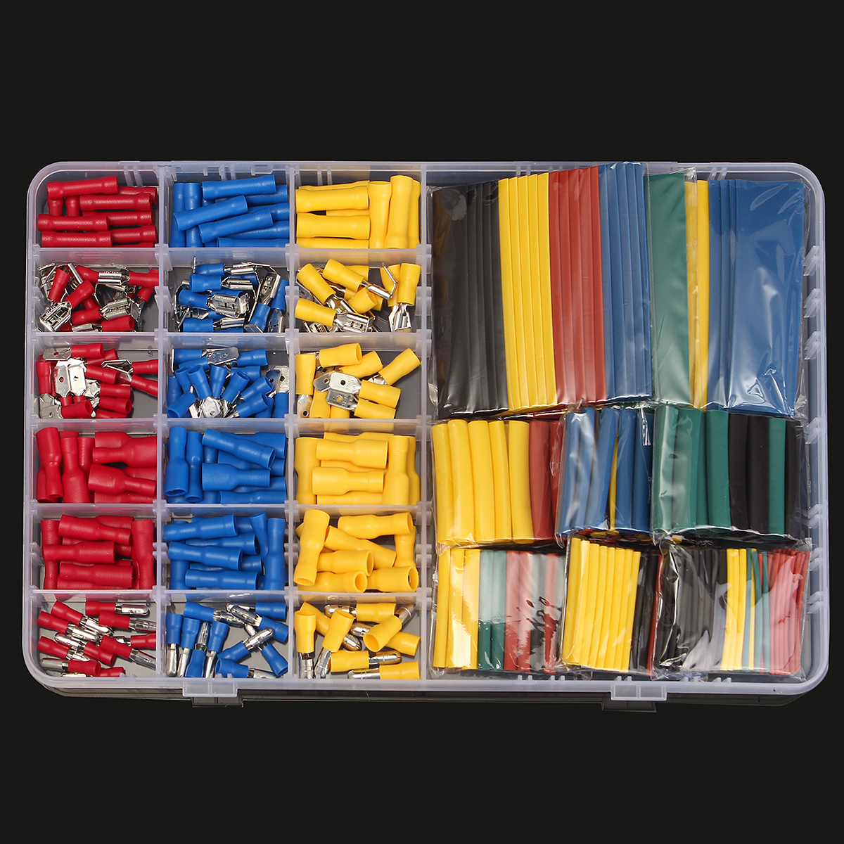 328 Heat Shrink Tube + Wire 178 Terminals Connectors Electrical Set