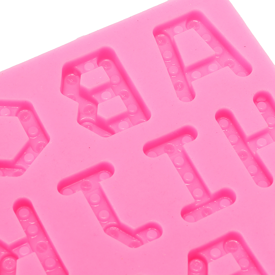 Food Grade Silicone Cake Mold DIY Chocalate Cookies Ice Tray Baking Tool Letters Shape