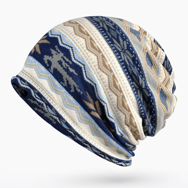 Women Cotton Print Bonnet Cap Comfortable Multi-function Neck Scarves Casual Windproof Visor Hat