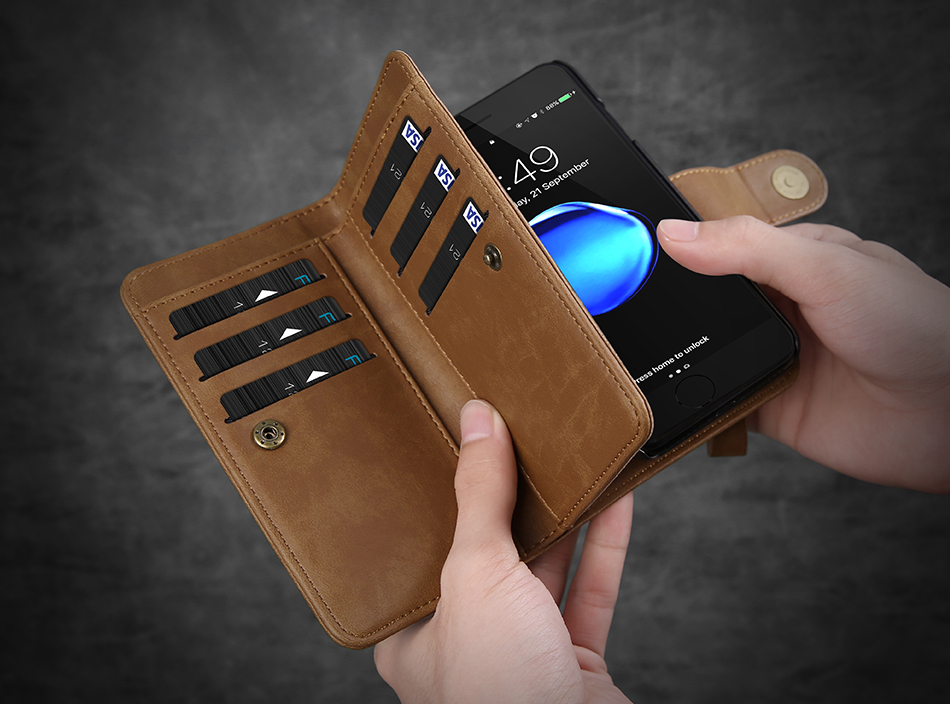 Floveme Detachable Wallet Card Holder Case For iPhone 8/7/6/6s 4.7 Inch
