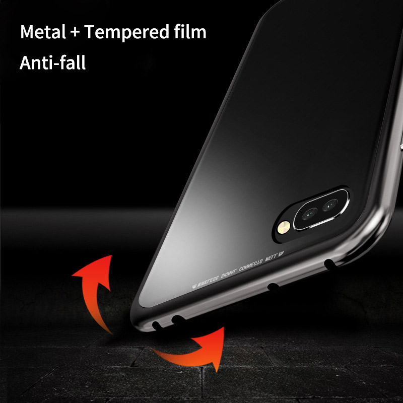 Bakeey 360° Magnetic Adsorption Metal Tempered Glass Protective Case for Huawei Honor 10