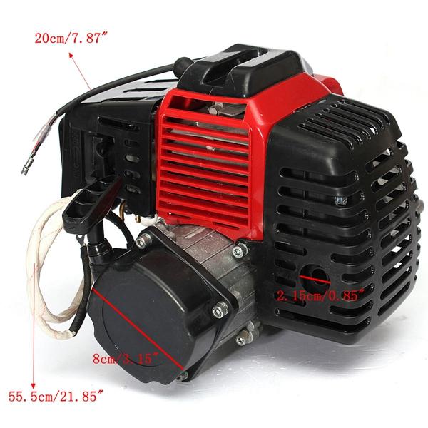49cc 2 Stroke Motor Engine Cylinder Pull Start For Mini Pocket Bike Gokart Gas Scooter