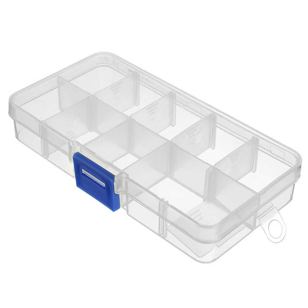 10 Cells Empty Detachable Adjustable Compartment Storage Case Box Nail Tip Gems Little Stuff