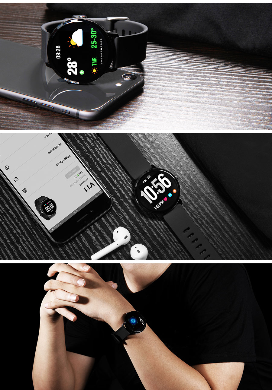 Goral V11 Weather Music Control HR Blood Pressure Oxygen Training Brightness Smart Watch Bracelet