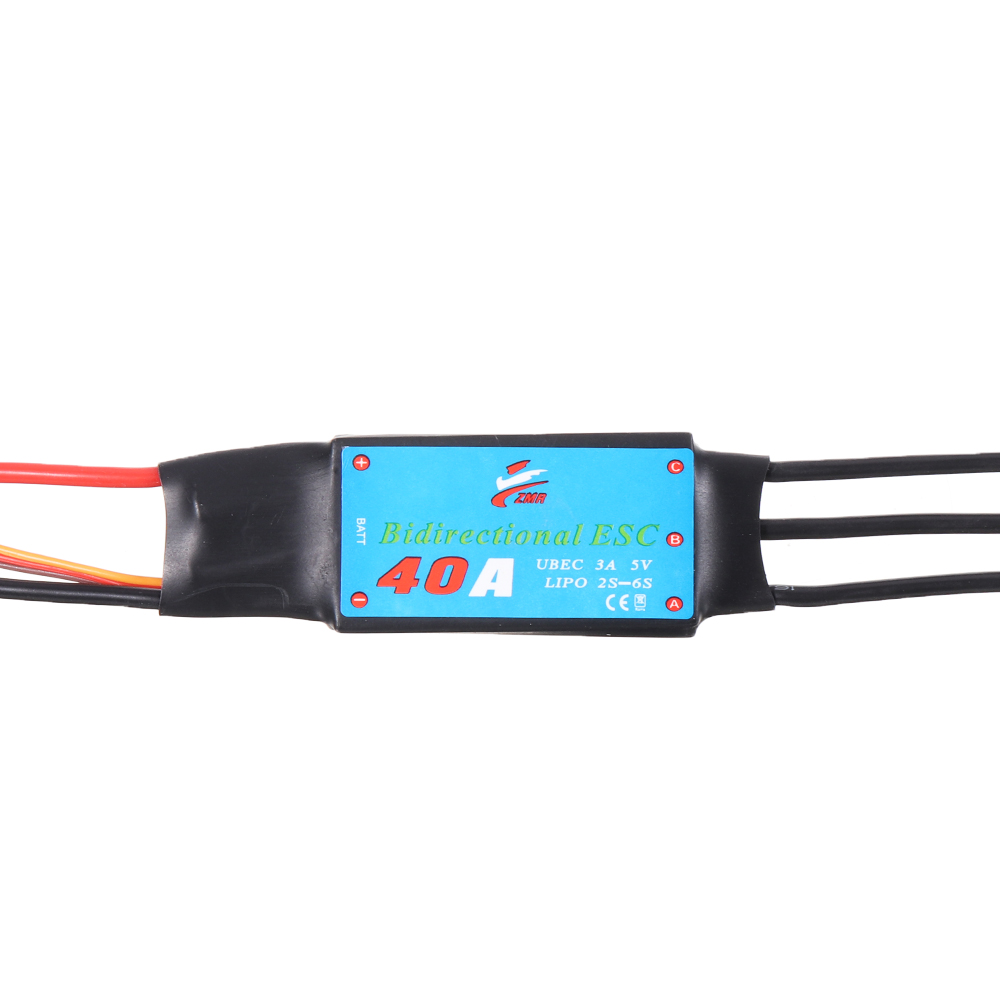 Double Sides Brushless ESC 20/30/40/50/60/80A Underwater Thruster RC Car Boat Parts - Photo: 5