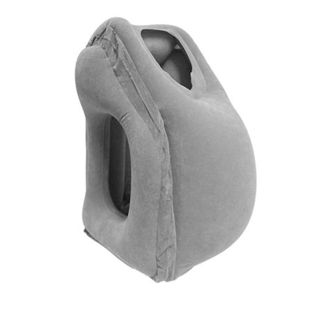 Inflatable Air Filled Travel Airplane Neck Pillow Cushion Support + Carrying Bag