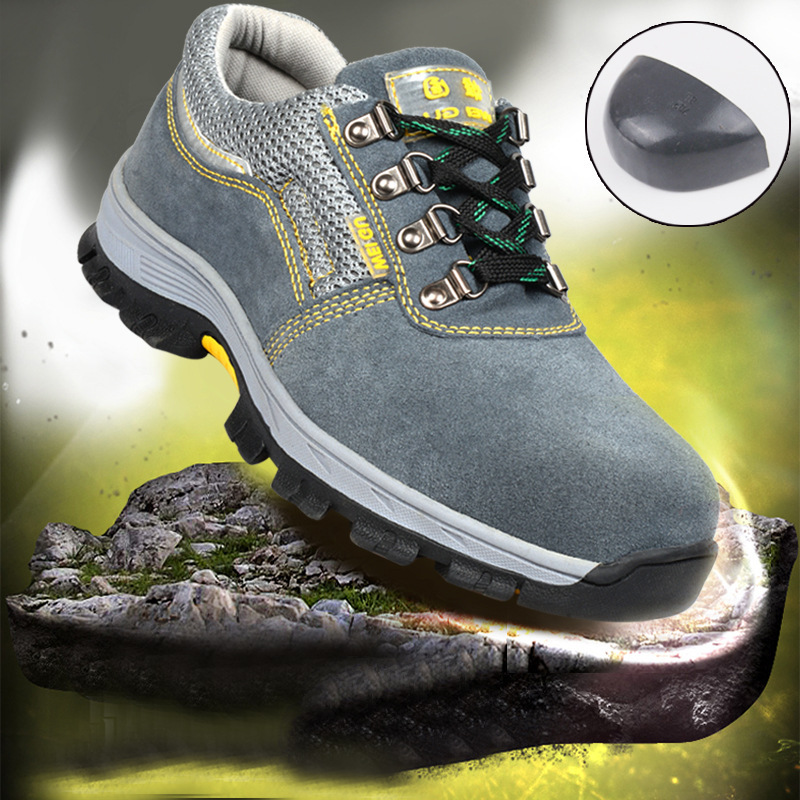 Outdoor Mens Safety Shoes Summer Breathable Steel Toe Work Boots Hiking Climbing
