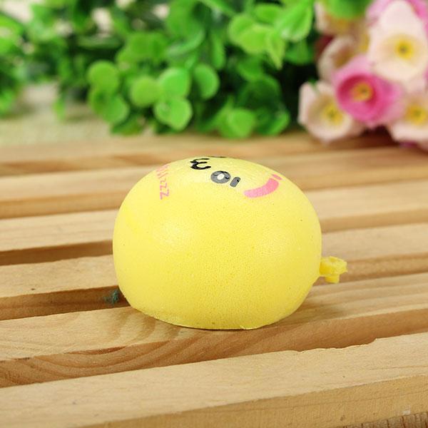 Squishy Toys 4.5cm Slow Raising Kawaii Random Emoji Simulate Bread Decor Phone Charm Keychain Straps