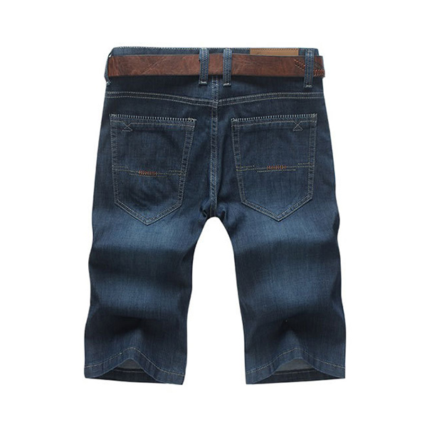 Summer Blue Jeans Straight Cut Fashion Men's Shorts Size 34-46