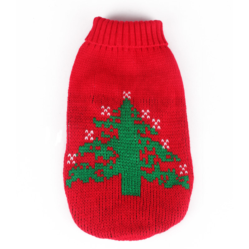 Christmas Tree Pet Dog Cat Sweater Autumn Winter Warm Puppy Coat Pullover Hoodie Clothes