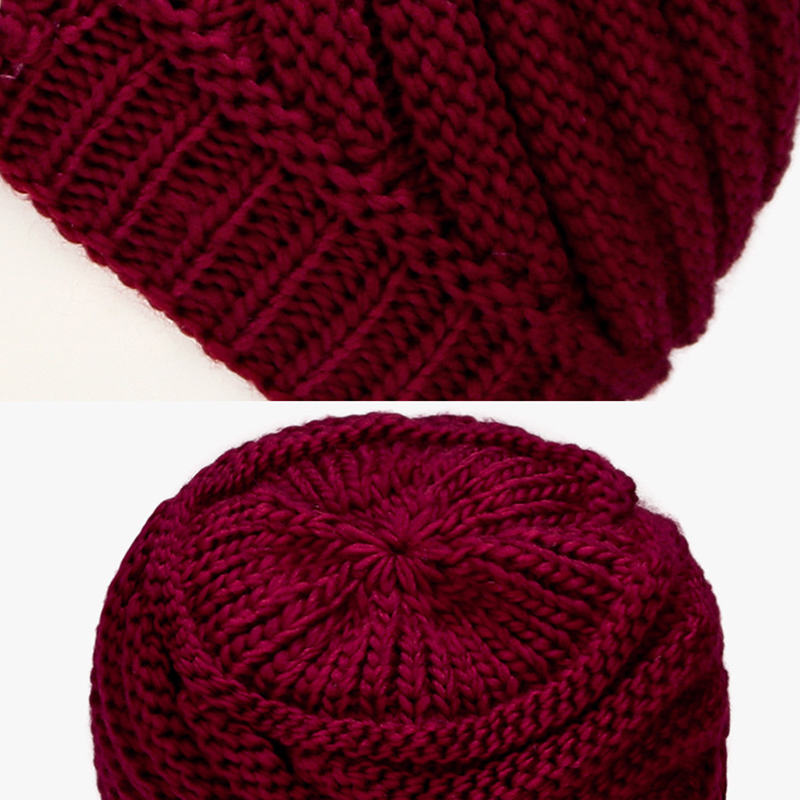 Winter Warm Fashion Lined Velvet Knit Weaving Elegant Hat