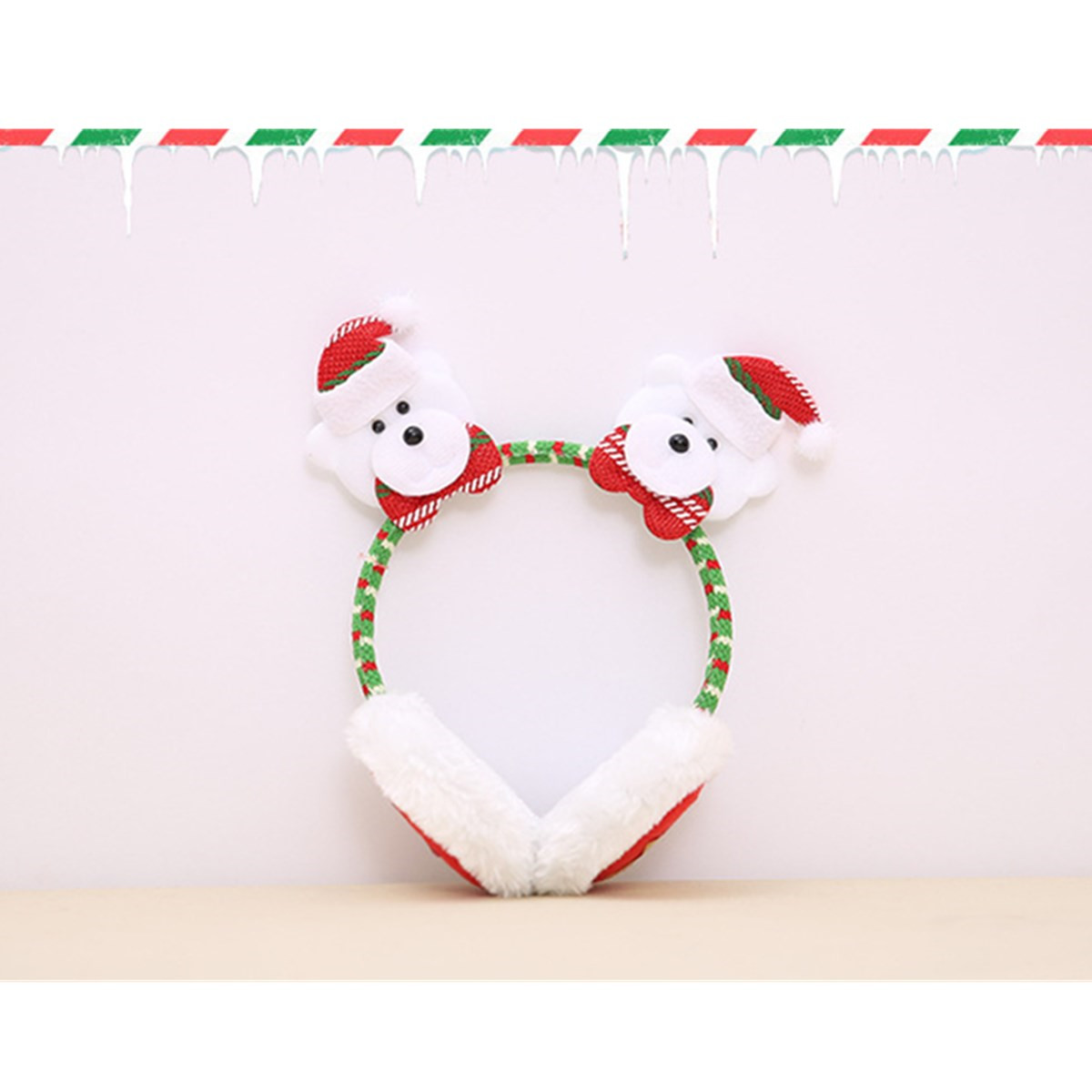 Woman Girl Winter Warm Novelty Santa Claus Elk Snowman Bear Christmas Earmuffs