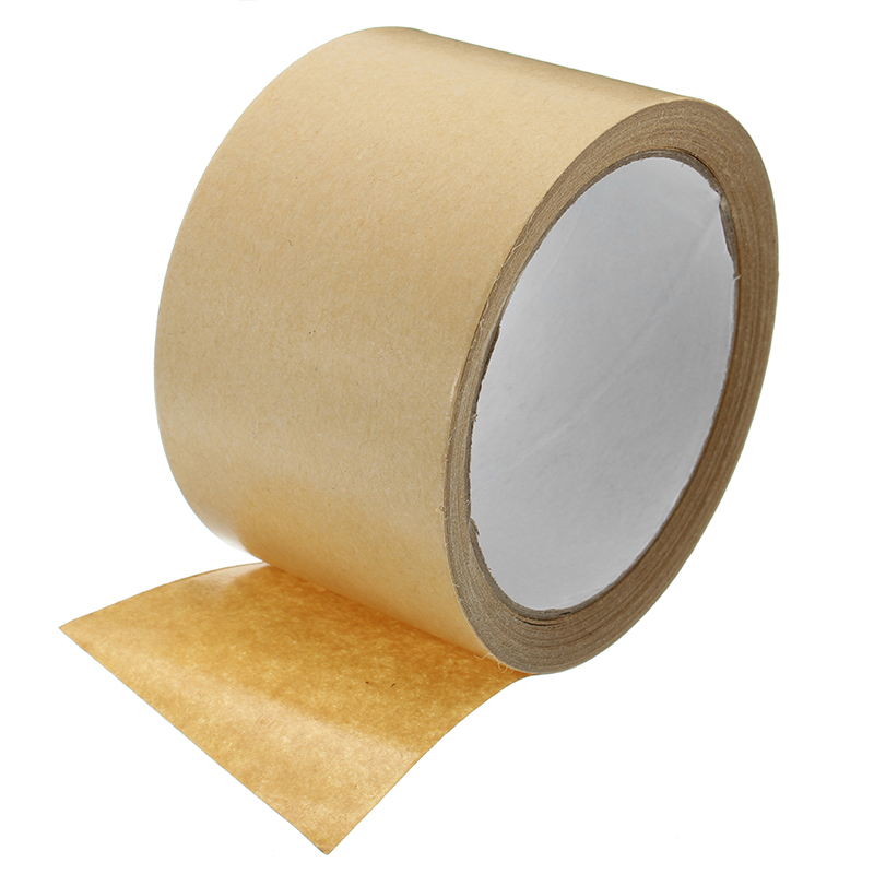 Kraft Paper Tape Strong Self Adhesive Packaging Shipping Seal Ring Tape 2 Sizes