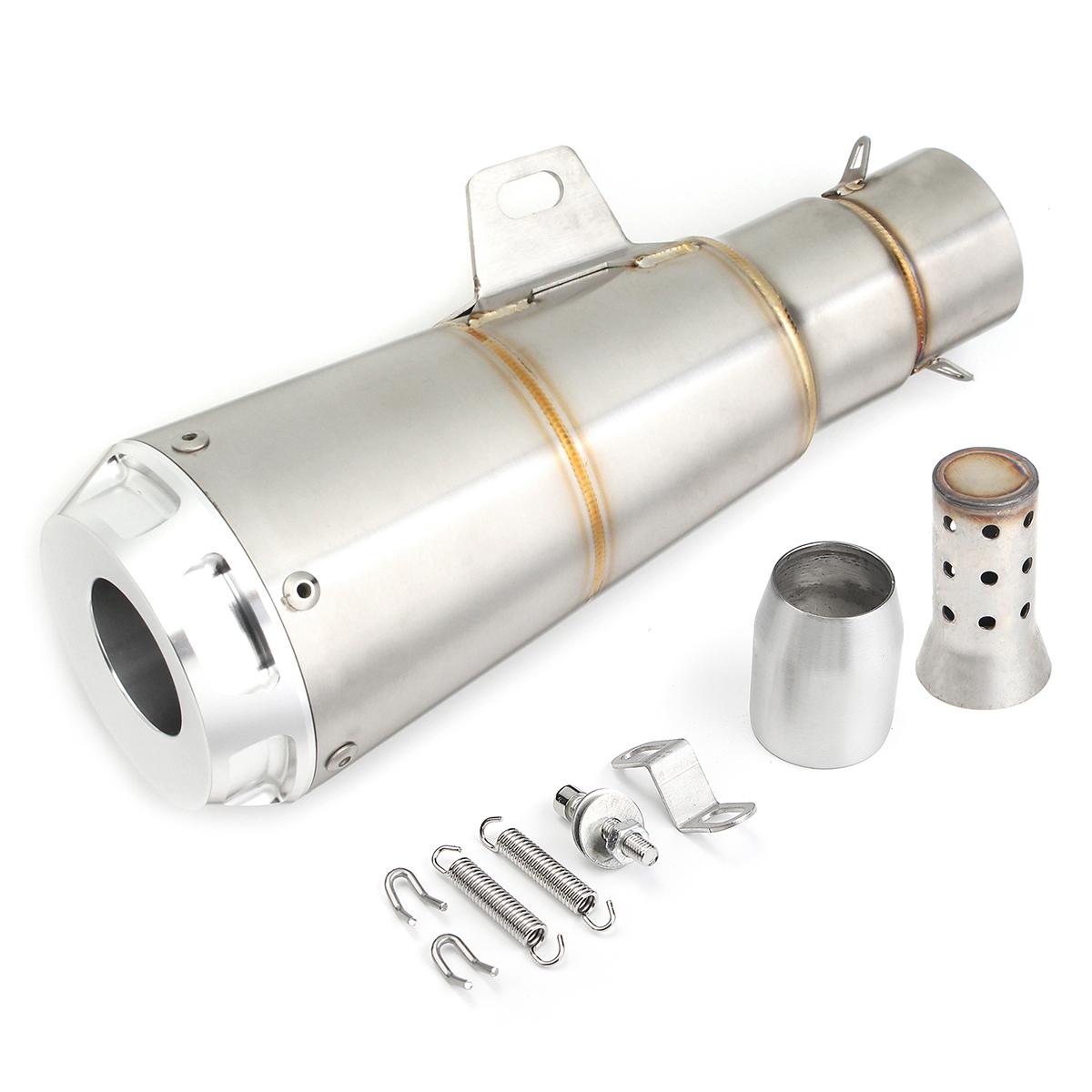 38-51 мм Плоский / круглый выпуск из нержавеющей стали мотоцикл Вытяжной глушитель Трубный наконечник с глушителем