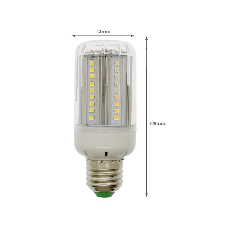 E27 15W 1050LM SMD2835 Pure White Warm White Radar Sensor Light Control LED Light Bulb AC85-265V