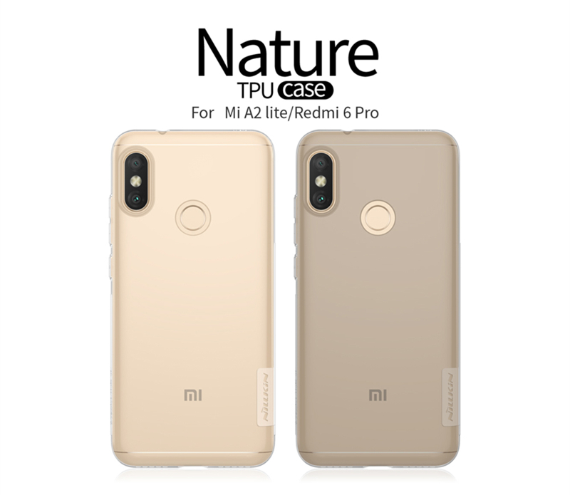 NILLKIN Transparent Ultra Thin Soft TPU Protective Case For Xiaomi Mi A2 Lite / Xiaomi Redmi 6 Pro
